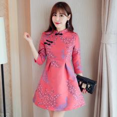 Ditingkatkan Rok Cheongsam Cina atau Bagian Panjang (Gambar Warna) Baju Wanita Gaun Wanita Gaun Wanita