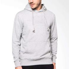 Divajaya shop-Jaket Polos Abu Muda Hoodie Sweater Soft Grey -abu abu