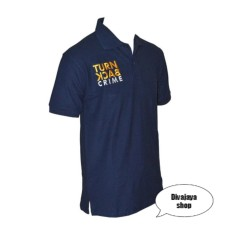 Promo Divajaya Shop Kaos Kerah Pria Turn Back Crime Polo Shirt Navy Murah