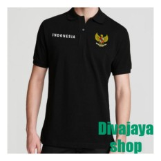 Spesifikasi Divajaya Shop Kaos Polo Pria Indonesia Hitam Terbaik