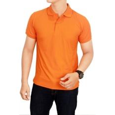 Harga Divajaya Shop Kaos Polos Kerah 100 Cotton Pique Orange Branded
