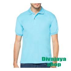 Promo Divajaya Shop Kaos Polos Polo Shirt Pria Biru Muda Di Jawa Barat