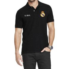 Divajaya shop- Polo Soccer Shirt Pria real madrid-Black