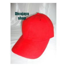 Divajaya shop-topi polos merah wanita bahan japan drill murah