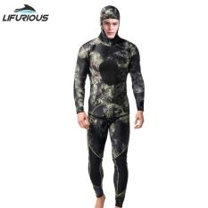 Spesifikasi Diving Suit Neoprene 3Mm Pria Pesca Diving Split Setelan Combinaison Wetsuit Snorkel Swimsuit Surf Wetsuit Intl Yang Bagus