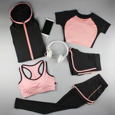 Daftar Harga Dixia Musim Panas Tipis Vest Celana Pendek Kebugaran Pakaian Kebugaran Pakaian Merah Muda Busur Lima Potong Oem