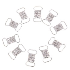 Kerajinan Tangan DIY Aksesoris Pakaian Bikini Rhinestone Tombol  (Perak)-Intl (Int: Satu ukuran)