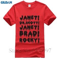 Diy T Shirt Janet, Brad, Dr. , Frank N Furter, Horror, Musical, Mens Short T-Shirt red