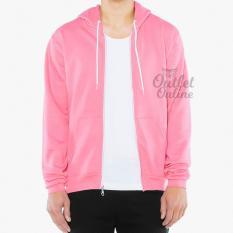 Diskon Djavu Jaket Hoodie Zipper Polos Unisex Baby Pink Refill Stuff