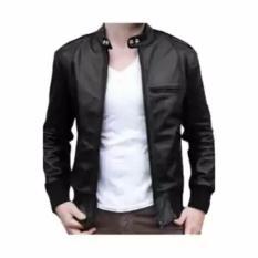 Rjr jaket kulit ariel hitam