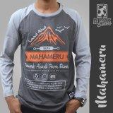 Toko Djejak Clothing Tshirt Kaos Adventure Unisex Lengan Panjang Mahameru Termurah Di Jawa Timur