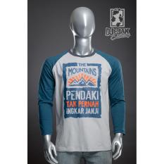 Jual Djejak Clothing Tshirt Kaos Adventure Unisex Lengan Panjang The Mountain Satu Set