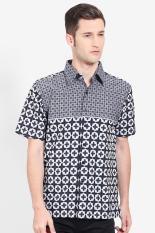 Djoeragan Batik  Men Muslim Wear Shirts Batik Shirts  Pria Wear Shirts Muslim Shirts Batik Grey Abu-abu Batik Diskon discount murah bazaar baju celana fashion brand branded