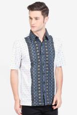 Djoeragan Batik  Men Muslim Wear Shirts Batik Shirts  Pria Wear Shirts Muslim Shirts Batik White putih Batik Diskon discount murah bazaar baju celana fashion brand branded