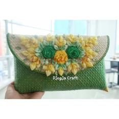 Harga Djogja Craft Clutch Anyaman Pandan Bunga Full Hijau Djogja Craft