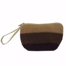 Djogja Klasik Craft Dompet Rajut Triple Tiga Warna - Coklat