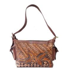 Jual Beli Djogja Klasik Craft Tas Kulit Hobo Saku Full Lukis Batik Kawung Bunga Baru Di Yogyakarta