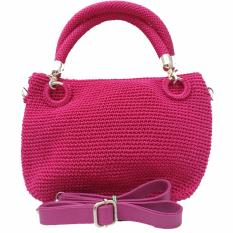 Djogja Klasik Craft Tas Rajut Pesta Triple Ulir - Pink