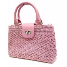 Djogja Klasik Craft Tas Rajut Webe - Pink
