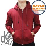 Beli Dk Jaket Polos Hoodie Zipper Merah Marun Murah Di Dki Jakarta