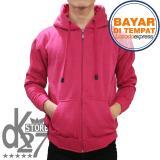 Jual Dk Jaket Polos Hoodie Zipper Pink Online Di Dki Jakarta