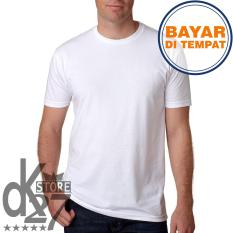 DK Kaos Polos Distro O-Neck Pendek Cotton Combed 20s Unisex