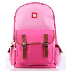 Dksh Tas Sekolah Ransel Punggung Anak Perempuan Cewek Warna Pink CIN