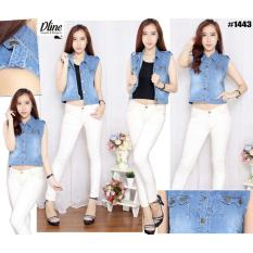Spesifikasi Dline Jeans Jacket Cropped C1443 Murah
