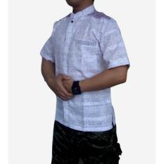 dm Baju Koko Pria Lengan Pendek Bahan Tekstile India (dm04A)