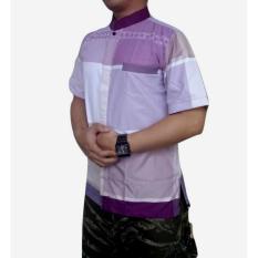 dm Baju Koko Pria Lengan Pendek Bahan Tekstile India (dm05A)