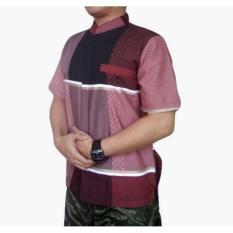 Obral Dm Baju Koko Pria Lengan Pendek Bahan Tekstile India Dm10 Murah