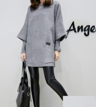 Beli sekarang DM Kode Di Bagian Panjang Longgar Tebal sweater Lengan Panjang Wanita Salah Dua Piece-Intl terbaik murah - Hanya Rp126.720