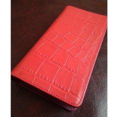 dm Dompet Wanita Kulit Asli Motif Buaya Model Panjang (Red)