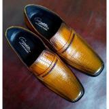 Spesifikasi Dm Sepatu Pantofel Kulit Asli Motif Buaya Brown Dan Harga