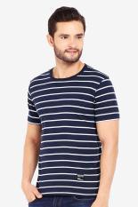 Dnf Pakaian Atasan Kasual Kaos T-Shirt Pria Salur-T-shirt Blue-Navy Diskon discount murah bazaar baju celana fashion brand branded