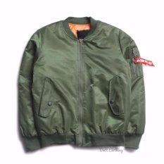 DnR Jaket Bomber Pria Original Premium - Hijau Army