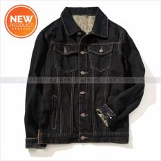 Review Terbaik Dnr New Denim Jackets Men S Black Retro Limited