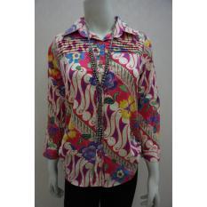 Spesifikasi Dns Reg001 Kemeja Batik Wanita Pink Murah Berkualitas