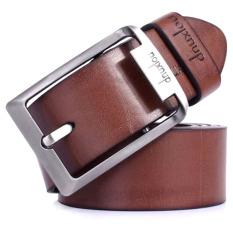 Model Dnuxlou Fashion Ikat Pinggang Pria Dnx Casual Belt Cokelat Terbaru