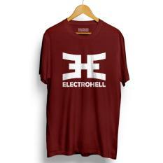 Do More Store Kaos DISTRO ELECTROHELL - Maroon Premium