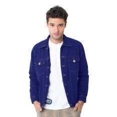 Beli Docdenim Men Jacket Indigo Slim Fit Biru Online