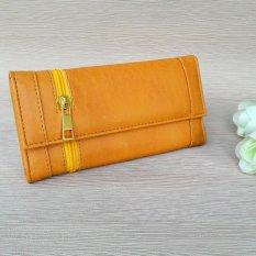 Jual Dompet Fashion Wanita Model Lipat Zipper Els 02B Kuning Di Bawah Harga