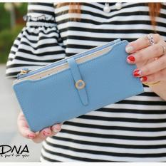 Dompet Fashions Amora Button Wallet Baby Blue Best Seller