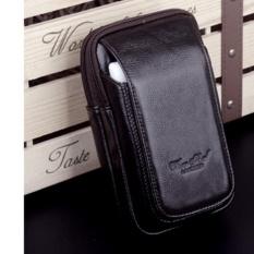 Dompet Hp Kulit Buat di Ikat Pinggang - Pouch - Hpo Cheersoul 2380 Tinggi 17cm [hitam]