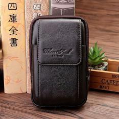 Spesifikasi Dompet Hp Kulit Cheersoul 2359 Coklat Hpo Import Sarung Hp Untuk Diikat Pinggang Pouch Accesoris Pria Online