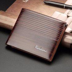 Dompet IMPOR Pria Fuerdanni Exclusive Cowo Leather Mens Wallet Laki - Coklat Tua