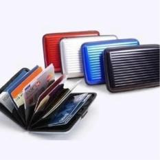 Dompet Kartu Aluminium Card Caddy - Tempat Kartu Kredit, ATM, Kartu Member Random Color