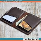 Jual Dompet Kartu Kulit Asli Handmade Card Wallet Genuine Leather No Merk Asli