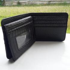 Jual Dompet Kartu Kulit Ular Asli Model Advanced Bifold Lipat Atas Handmade Import