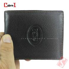 Cabrini Dompet Pria Kulit Cokelat Asli Original Wallet Mens Import Branded Murah Terbaru DK12-83C